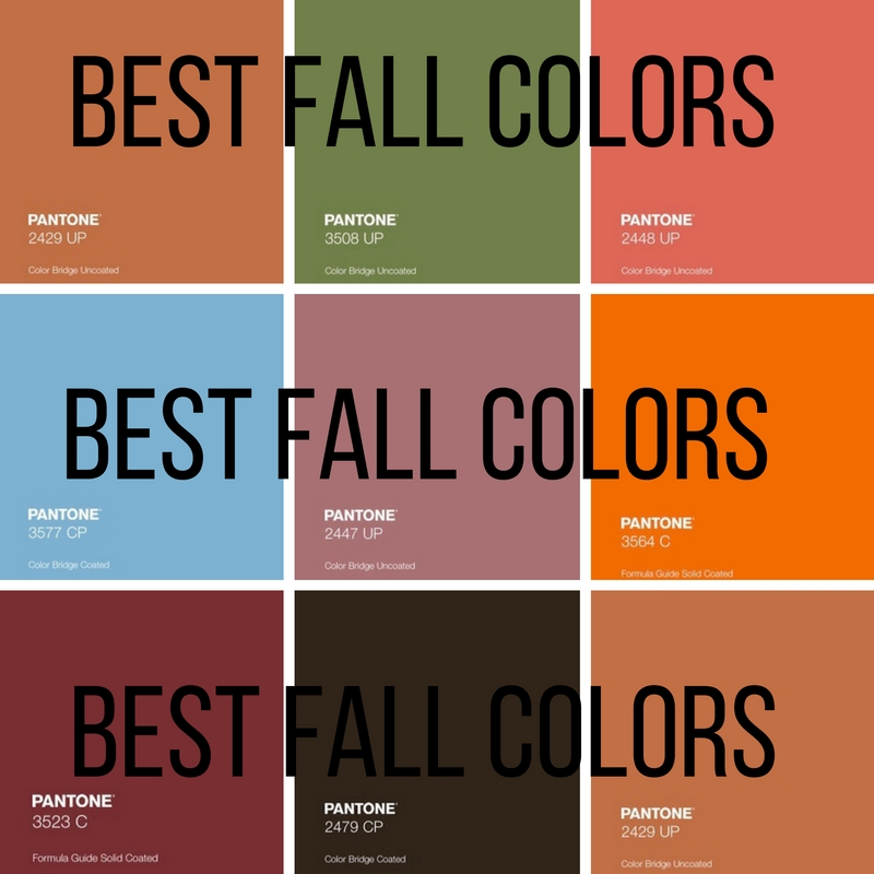 The best colors to wear during the fall making it up for Fall clothing colors 2016