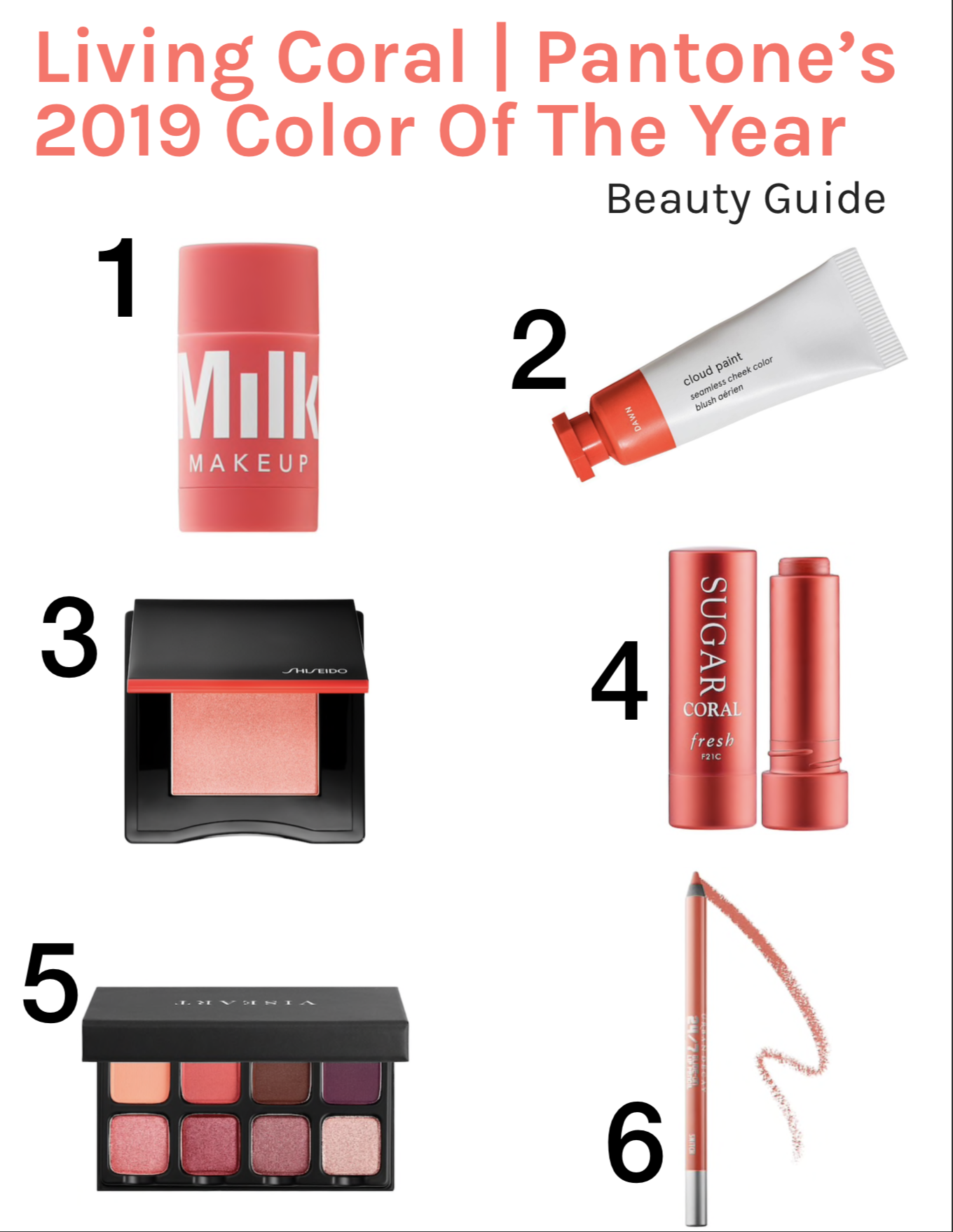 Shop Living Coral   Beauty Products Inspired by Pantone's 2019 Color of the Year