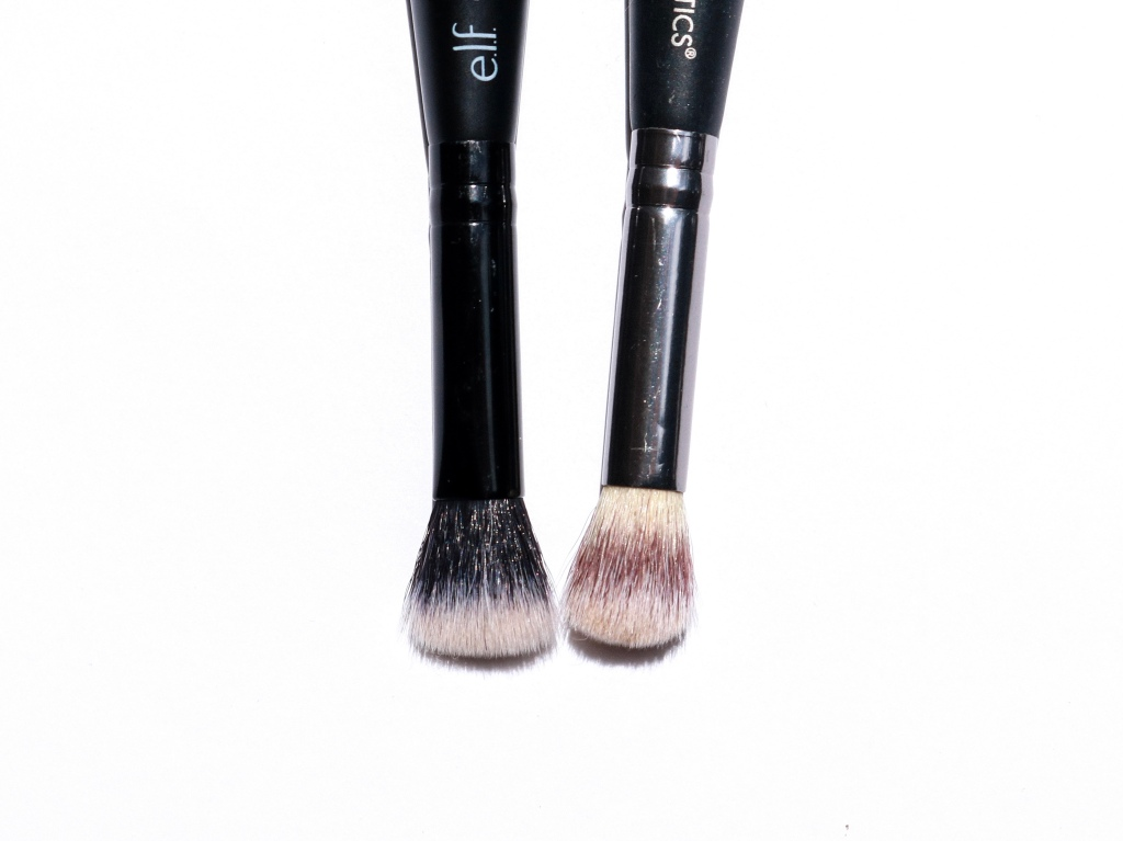elf Complexion Duo Brush vs. It Cosmetics Heavenly Luxe Complexion Perfection Brush #7